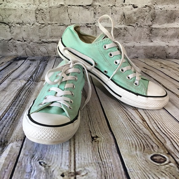 865201de4f9 Converse Shoes - SALE 🎁 Mint Green Converse Womens 7